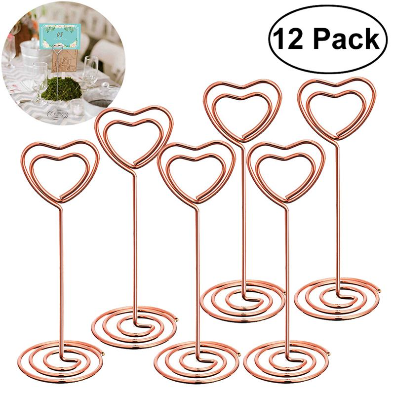 Photo Holder Stands Table Number Holders Place Card Paper Menu Clips For Weddings Seat Card Note Photo Holder Party Supplies
