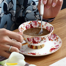 Western Style Coffee Cup Ceramics Mugs With Spoon Dish Breakfast Milk Exquisite Gifts Caneca Water Drinkware Accessories