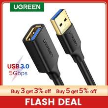 UGREEN USB Verlängerung Kabel USB 3,0 Kabel für Smart Laptop PC TV Xbox Eine SSD USB 3,0 2,0 Extender Cord mini Schnelle Geschwindigkeit Kabel