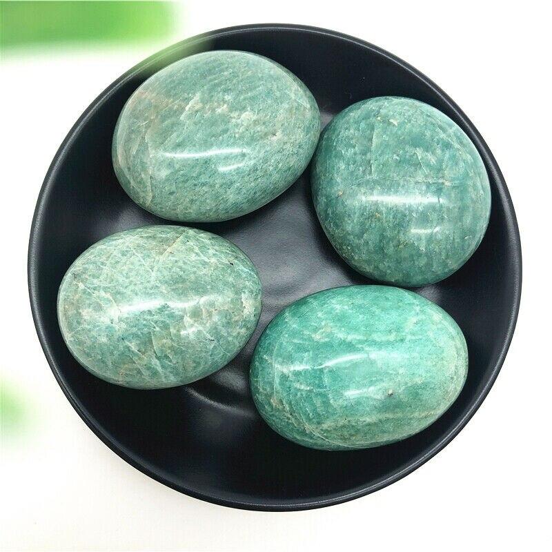 1 шт. натуральный полированный Амазонит, кварц, хрусталь, массаж, пальмовый камень, образец, лечебные натуральные камни и минералы