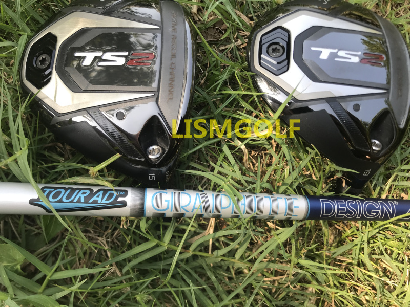 TS2 Golf Fairway Wood 15/19 Loft Graphite Shaft Golf Clubs Driver Irons Hybrid Wedge Putter HeadCover Club