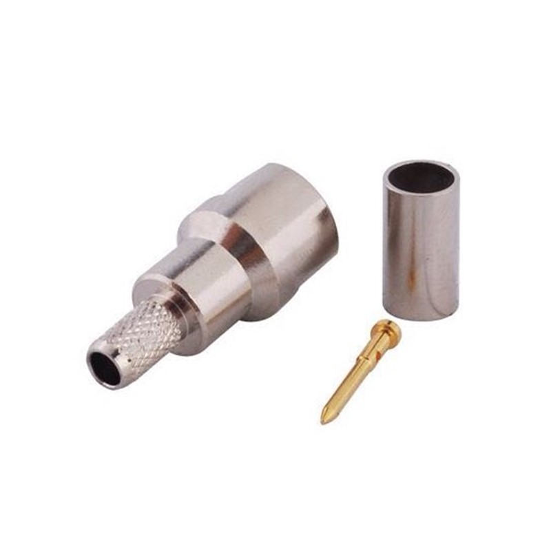 5pcs FME Male Plug Connector Crimp For RG400 RG58 RG195 Coaxial Cable