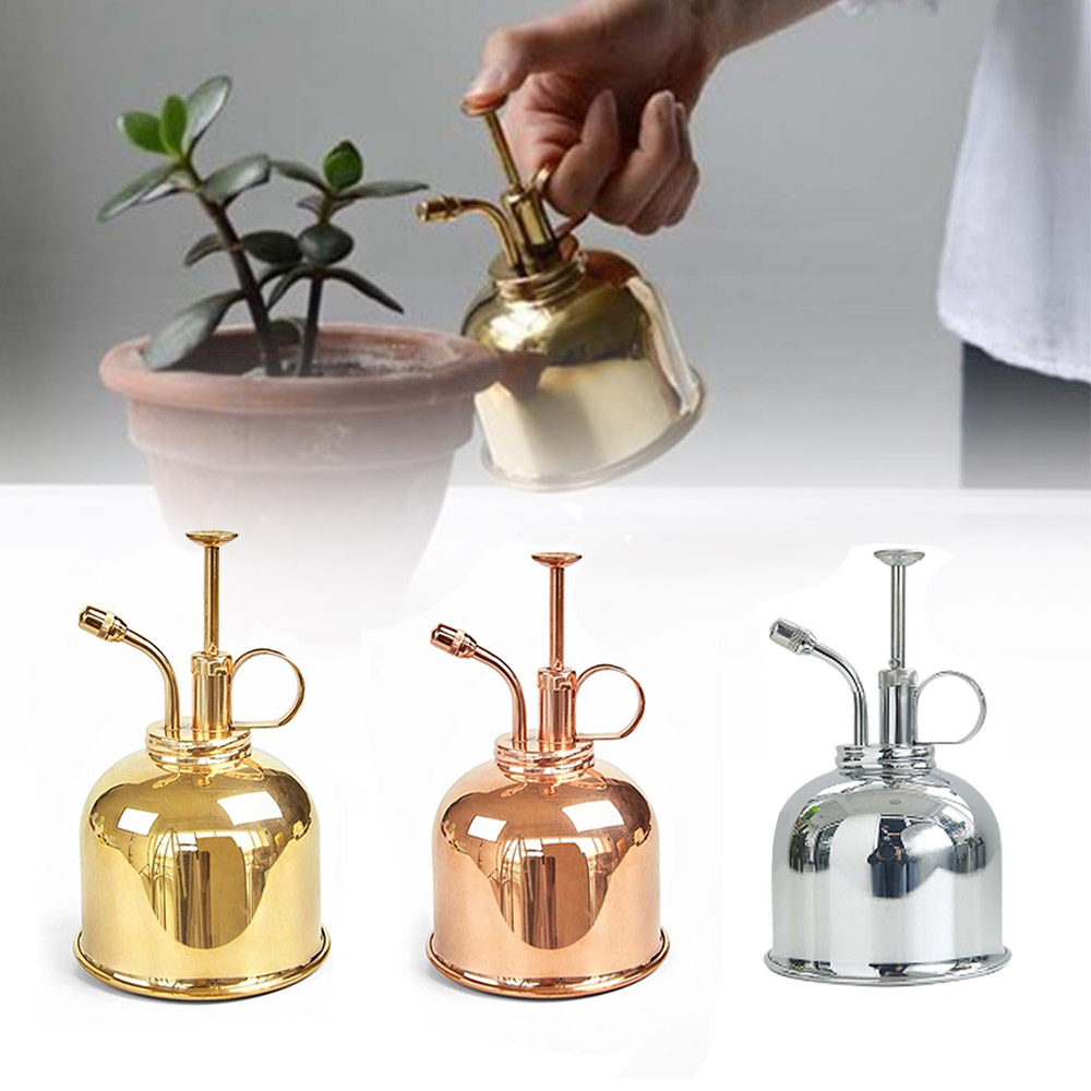 Pot-Spray-Bottle Watering-Can Garden-Supplies Mister Flower Copper-Plant Mini 300ml title=