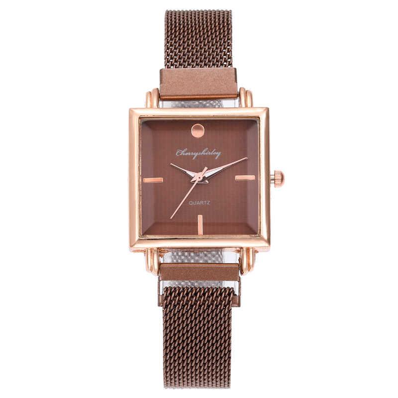 2020 moda luksusowe damski zegarek kwarcowy dla pań pasek ze stopu zegarki damskie zegarki na rękę zegar Relogio Feminino Reloj Mujer