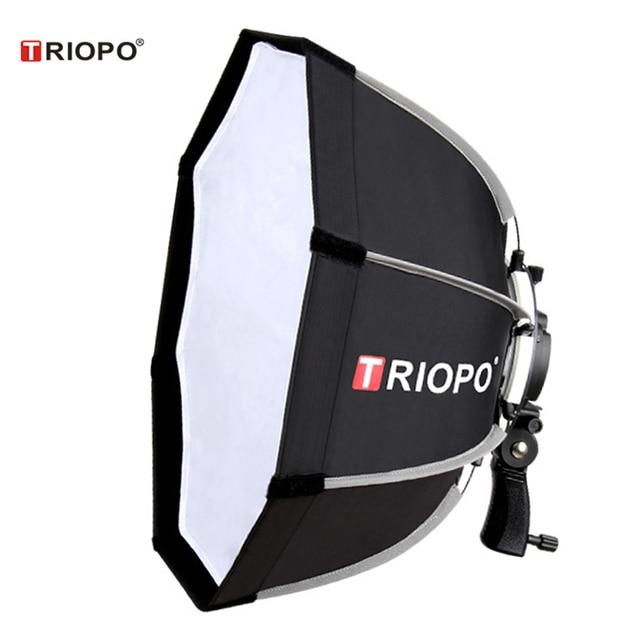 TRIOPO 55cm נייד חיצוני אוקטגון מטריית פלאש Softbox Speedlite רך תיבת עבור Godox AD200 פנס Yongnuo YN685 YN560IV