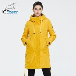 ICEbear 2020 Delle Donne della molla delle donne del rivestimento del cappotto con un cappuccio abbigliamento casual di qualità cappotti marchio di abbigliamento GWC20035I