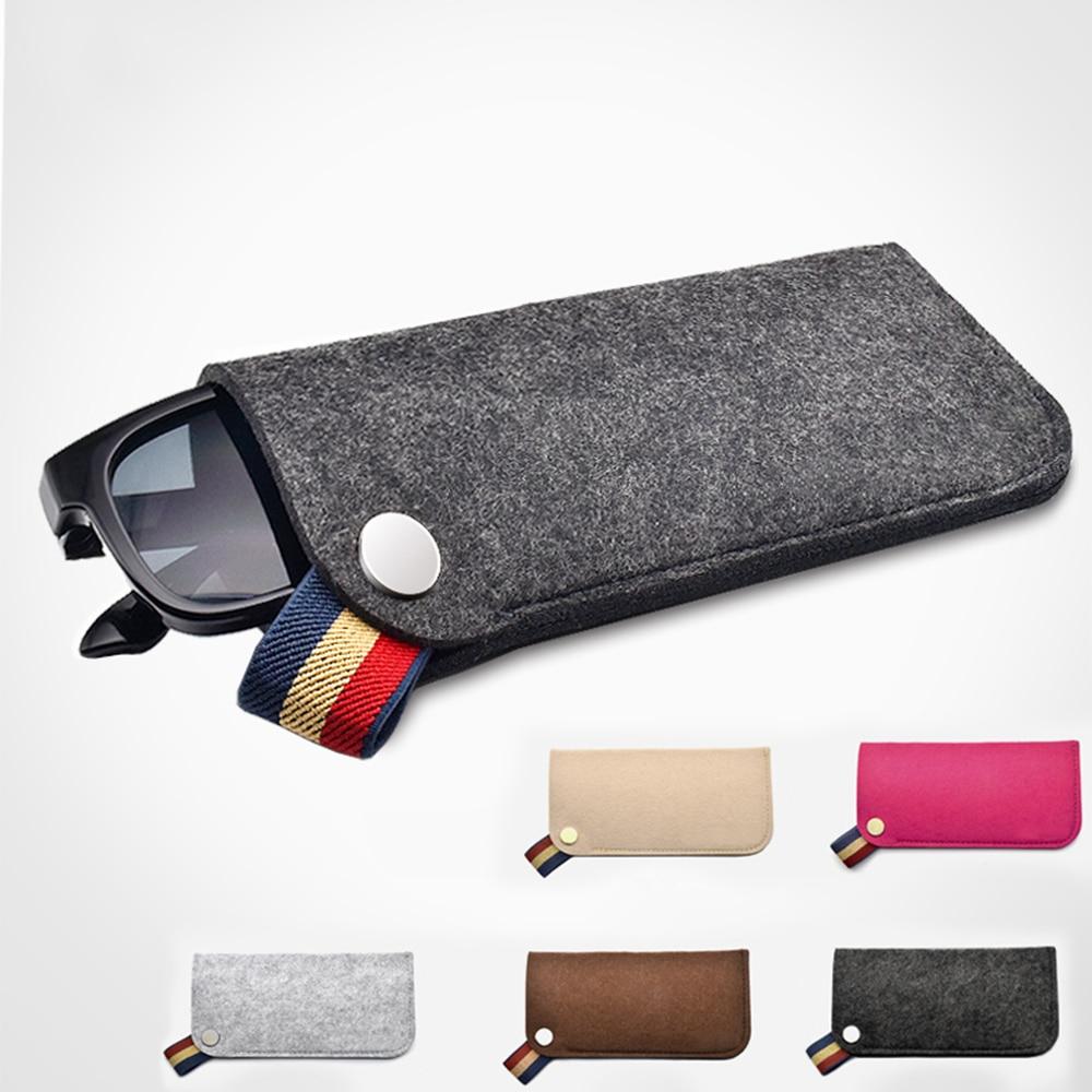 High Quality Portable Glasses Storage Organizer Bag For Women Men Unisex Glasses Box Felt Sunglasses Bag Eyeglasses Cases