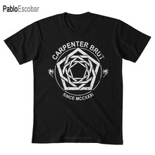 Carpenter Brut (Wei?) T hemd carpenter brut synthwave shubuzhi männer baumwolle t-shirt sommer marke top tees(China)