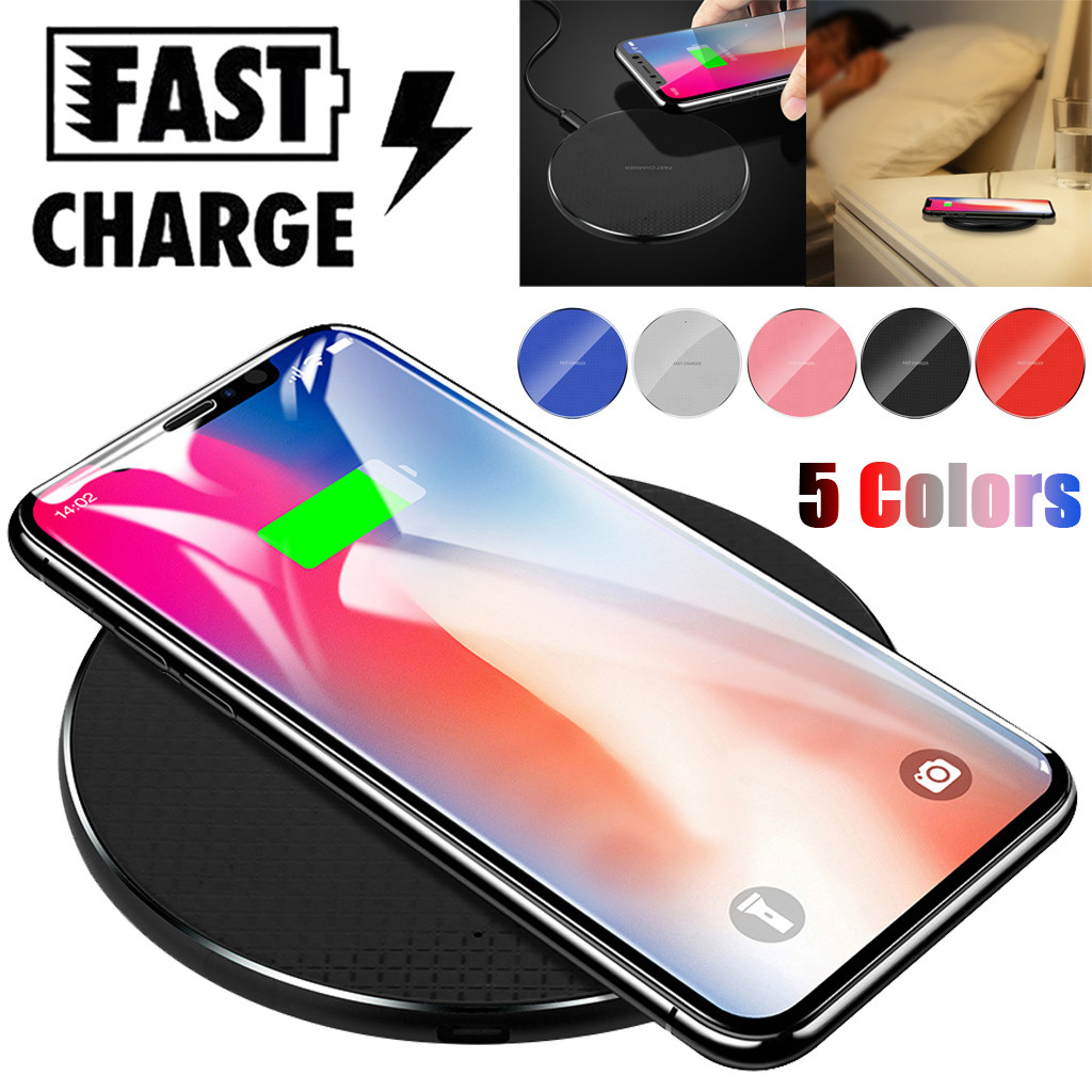 Ultra-thin Metal Charge Qi Wireless Fast Charging Pad For Samsung For iPhone
