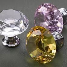 Botões de cristal para armário de cozinha cômoda mesa etc móveis porta alças gaveta puxa 1.2 Polegada