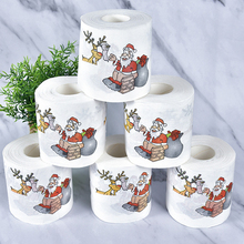 Christmas Creative Gift Web Paper Santa Claus Color Printed Toilet New Year Cute Towel