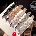 Заколка для волос для женщин и девушек, заколка для волос с кристаллами и цветами в Корейском стиле ручной работы, модные аксессуары для вол...