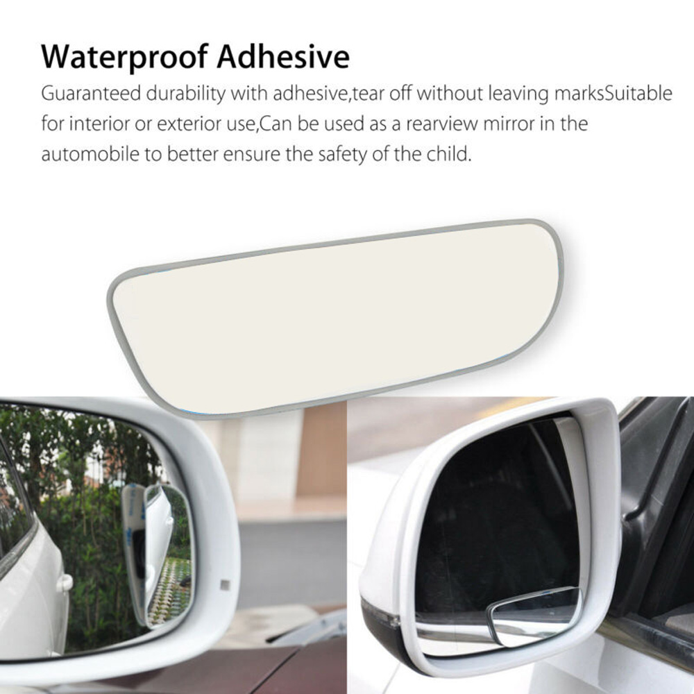 2PCS Universal Auto 360° Wide Angle Convex Rear Side View Blind Spot Mirror New
