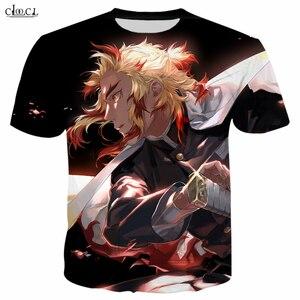 Image 2 - Fashion T Shirt Men / Women Anime Demon Slayer: Kimetsu No Yaiba 3D Printed T Shirts Harajuku Style T Shirt Streetwear Tops T234