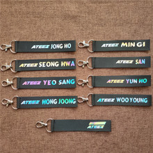 Lanyard Keychain Ateez-Pendant Keyring Rope Laser Member Mobile-Phone-Hang High-Quality