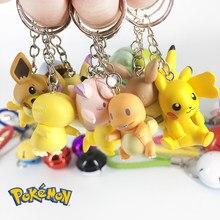 Pokemon chaveiro pikachu figura de ação pokemon elf série crianças brinquedo presentes natal diy chaveiro