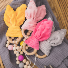 Baby Baby-Products Wooden Ce for DIY Nursing Pacifier-Chain Clips Pendant Bracelet Rabbit-Ears