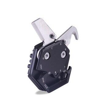 Mini EDC Multi herramienta de Camping al aire libre pequeño cuchillo plegable herramientas multiherramienta EDC Tarjeta de bolsillo de pesca multiherramientas destornillador
