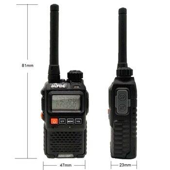 2PCS BAOFENG UV-3R+ Mini Walkie Talkie UHF VHF Portable CB Radio Transceiver UV3R Plus Amateur Ham Radio Station Woki Toki 3W 3