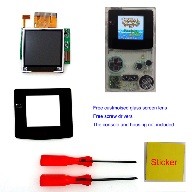 Screen Nintendo Gameboy-Color High-Light 5-Segments GBC Adjustable for Lcd-Modification-Kit title=