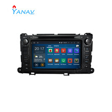 Auto radio audio 2 din stereo empfänger video dvd player für TOYOTA Sienna XL30 2013 + touch screen multimedia Android 10,0 player