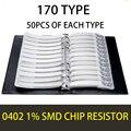 0402 1005 1% 0R OHM ~10M YAGEO SMD Resistor Sample Book Tolerance 170valuesx50pcs=8500pcs