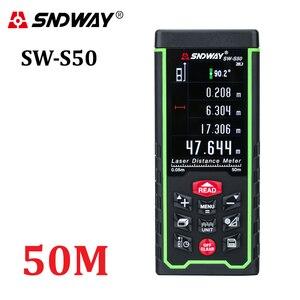 Image 1 - Sndway カラーディスプレイ 50 メートル 164ft デジタル充電式レーザー距離計レーザー距離計測定ツール送料無料
