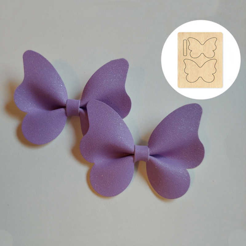 Leather Bow Cutting Dies Wooden Die for Scrapbooking Thick S2109-3 1