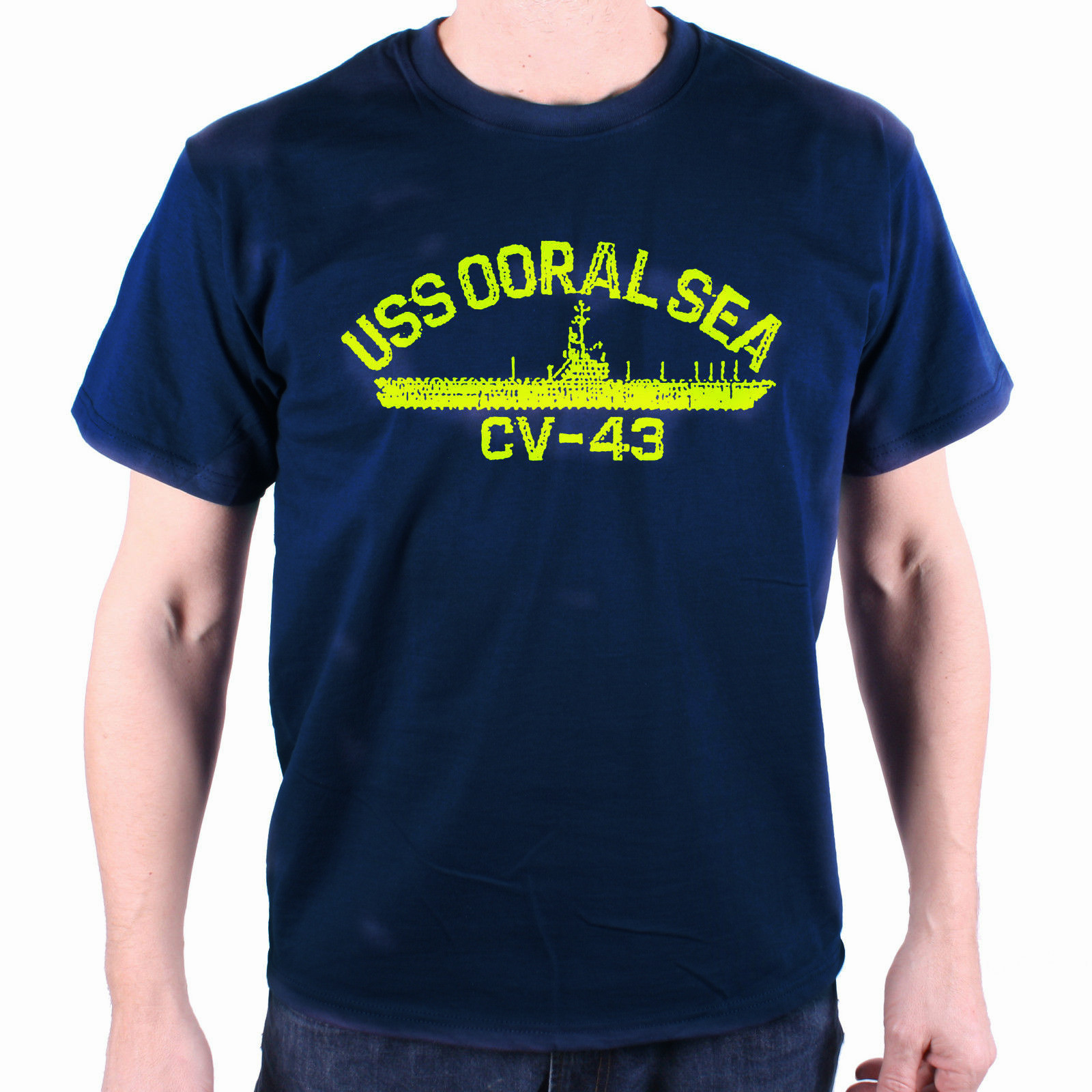 New USS Ooral Sea CV-43 Cult Movie T Shirt S-3XL image