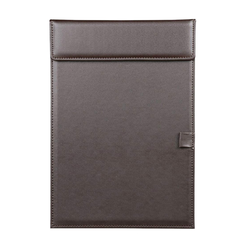 A4 Clipboard ,A4 File Paper Profile Clip Writing Board Pad Tablet Desk Blotter Mat Clipboard With Pen Holder Brown
