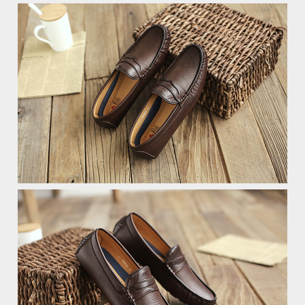 H0fa4a8821bb54a388148e2d73781b1d4n Men's Casual Shoes Men Moccasins Autumn Fashion Driving Boat Shoes Male Leather Brand Slip-On Classic Men's shoes Loafers