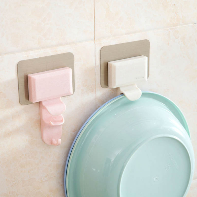 Self Adhesive Seamless Racks Washbasin Holder  Wall Mount  Door Wall Hanging Organizer Traceless Towel Sucker Hanger