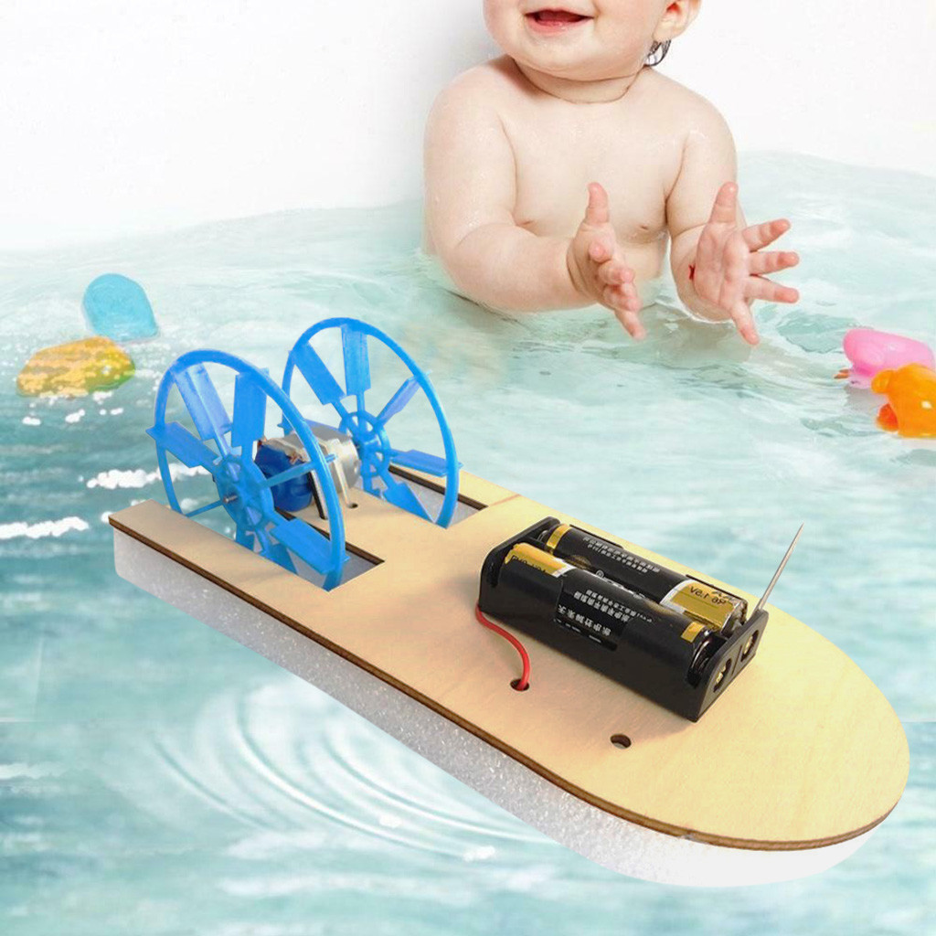 Education For Kids Fun Learning Toys For Children DIY Electronic Assembly Boat Model Toy Scientific Experiment Toy For GiftsW809