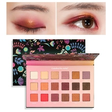 18-color Paper Texture Eye Shadow Palette Waterproof Smudge-proof Easy To Color Long Lasting Matte Shimmer Eye Shadow 1 8bjd doll pukifee halloween free eye to choose eye color