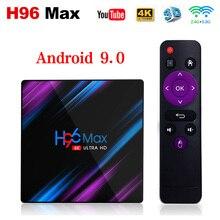 H96 MAX 4GB 64GB akıllı TV kutusu Android 9.0 Rockchip RK3318 1080P 4K Google mağaza H96MAX medya oynatıcı Android TV Set üstü kutu