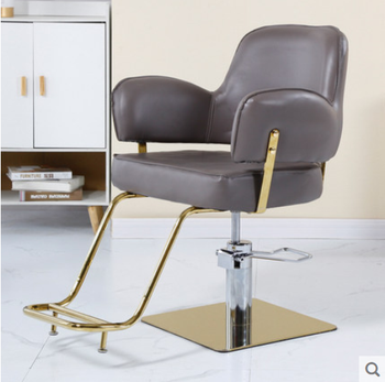 High grade hair salon special lift down barber\'s chair disc cutting chair hot dyeing chair
