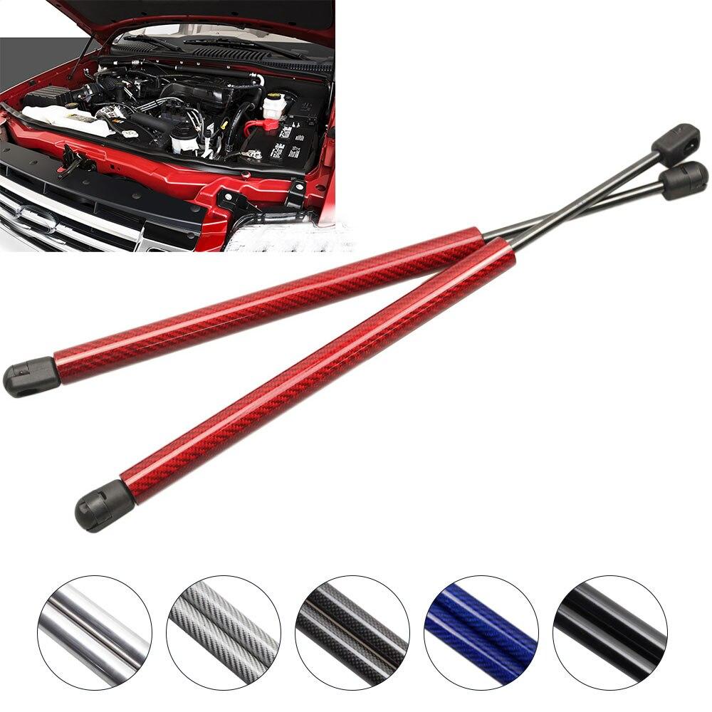 Für 2002-2010 Ford Explorer Sport Utility Motorhaube Haube carbon Lift Unterstützt Gas schocks Streben 13,1 zoll dämpfer absorber