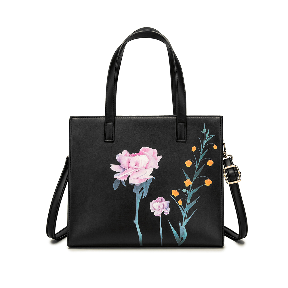 Vintage Tote Bag Leather Purse Satchel Crossbody Anchor Pattern Handbag for Women