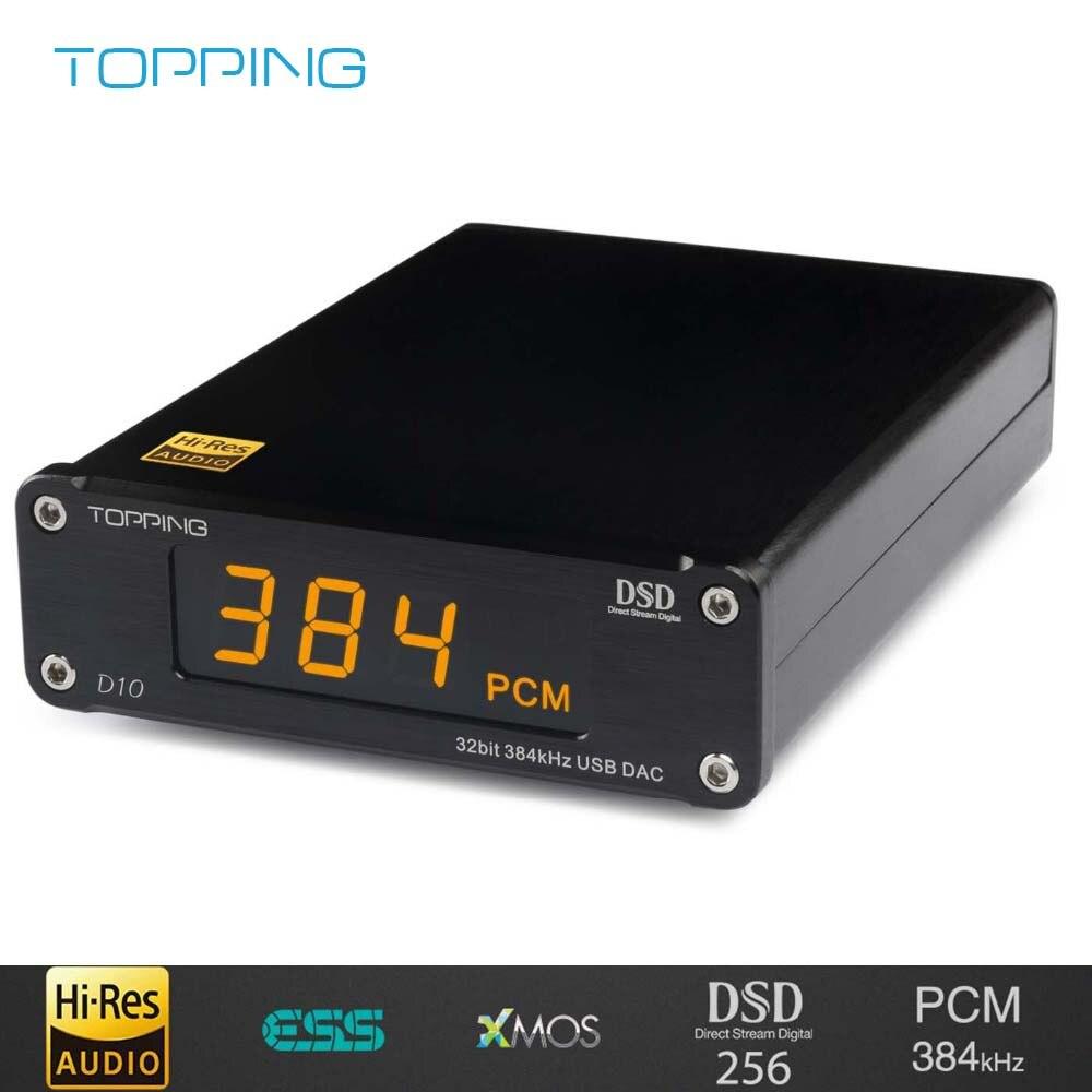 TOPPING D10 Digital USB DAC Audio Amplifier Hifi Spdif DAC Amp ES9018KAM DSD DAC Amplifier Audio Decoder Xmos Xu208 Balanced Out