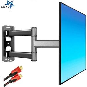 Image 3 - 2020 חדש טלוויזיה וול הר Bracket טלוויזיה שטוח מסגרת תמיכה 40kg 90 מעלות מסתובב עבור 26 50 אינץ LCD טלוויזיה עם משלוח HDMI כבל