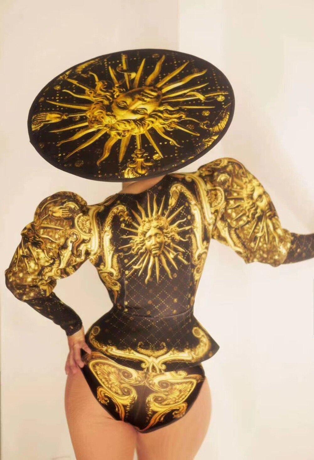 cantor dançarino festa mostrar bodysuit grandes chapéus wear