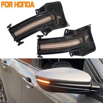 LED Dynamic Turn Signal Blinker Side Rear-View Mirror Indicator Light For Honda Civic 10th Gen. FC1 FK7 2016 2017 2018 2019 2020 фото