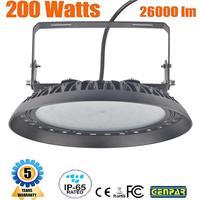 Warranty 5 Years Waterproof UFO Led High Bay Light 100W 150W 200W IP65 Industrial Lamp Workshop Garage Warehouse Stadium Market