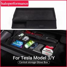Model3 schowek na Tesla Model 3 2021 akcesoria główny schowek samochodowy w podłokietniku układanie Tidying Model 3 Tesla Model Y Model trzy