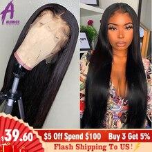 Brazilian Straight Lace Front Wigs For Black Women 13*4 Medi