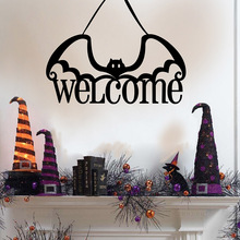 цена Halloween Hanging Sign Door Hanging Non-woven Welcome bat door ornaments Supplies Room Hanging Decor Welcome Sign Art Wall sign онлайн в 2017 году