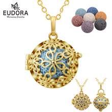 Eudora Золотой гармония медальон с цветком 5 шт камень из вулканической