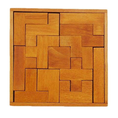 pentominoes solidos quebra cabeca de madeira geometria cerebro teaser jogo brinquedos para
