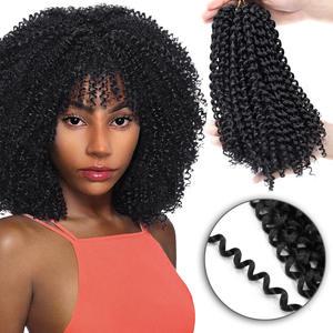 Braiding-Hair Hair-Extension Crochet-Hair Bundles Weave Jerry Curl Yxcheris Synthetic