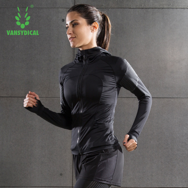 Running Jacket For Women Yoga Zipper Long Sleeve Female Sport Fitness Gym Clothing Ladies Hoodies Sport Chaqueta Deportiva Mujer